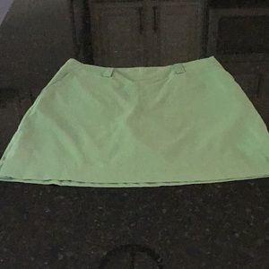 Sage green Nike dry fit golf skort
